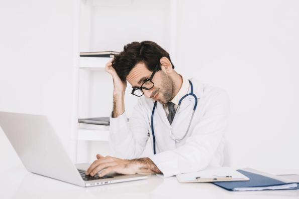 Doctor at Laptop